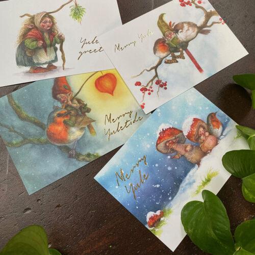 faery yuletide cards